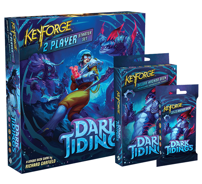 Keyforge | Dark Tidings Starting Pack, Archon, and Deluxe