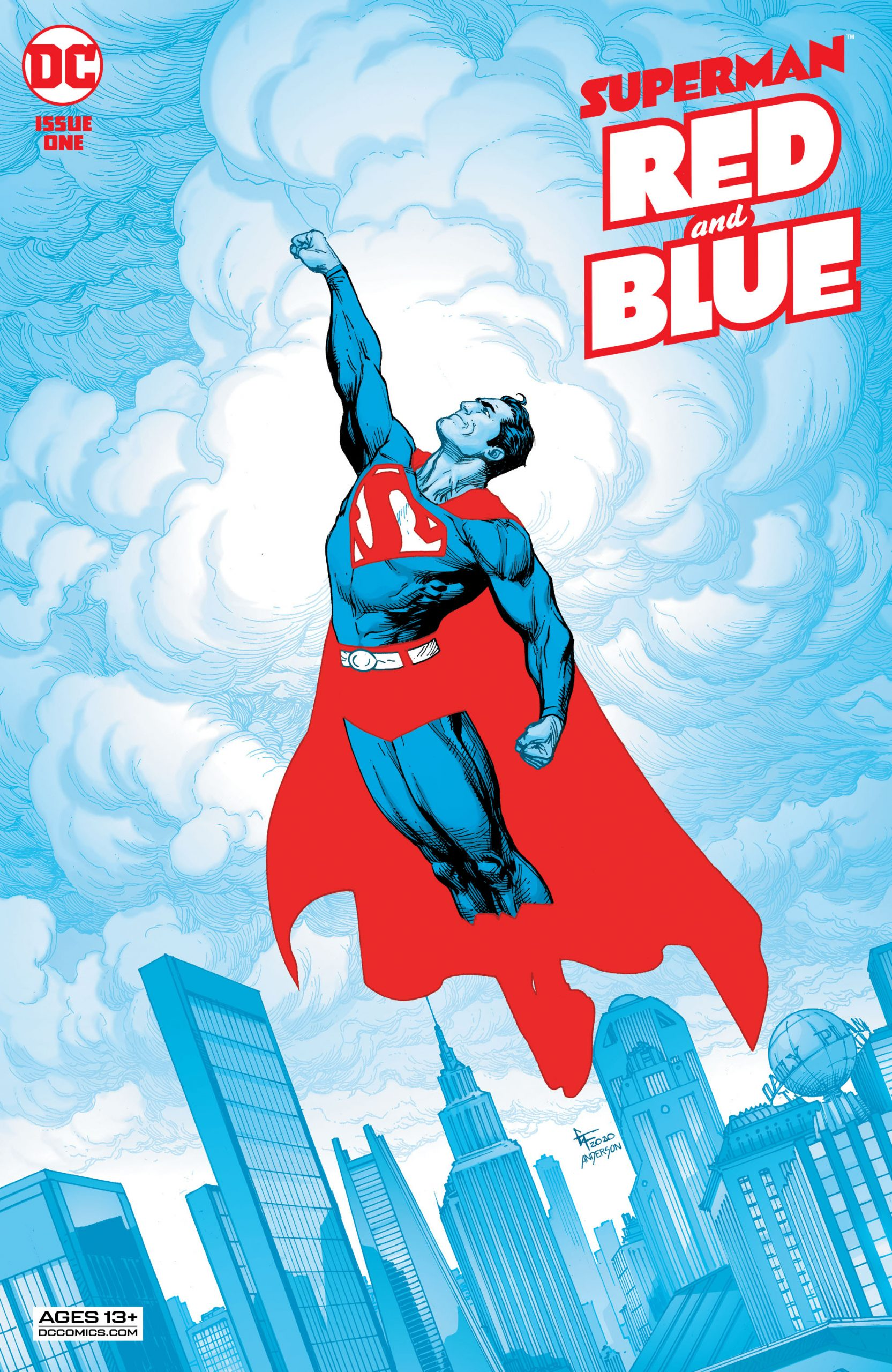 Superman Red & Blue Number 1