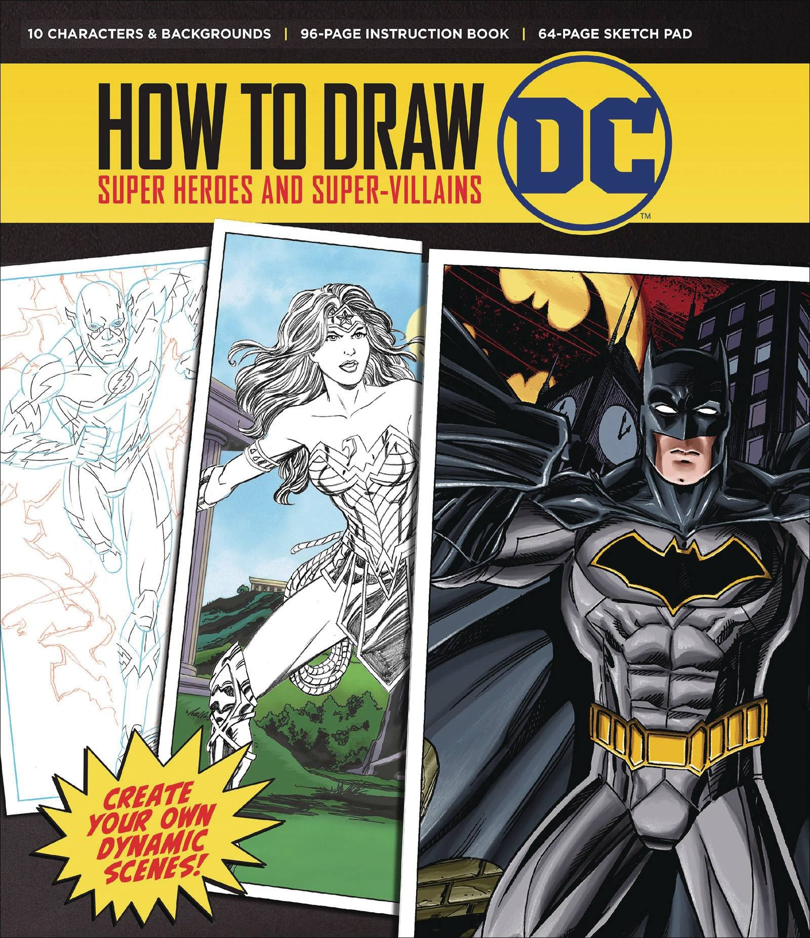 How to Draw DC Comic Super Heroes and Super Villains