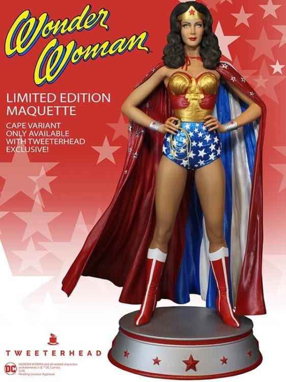 Wonder Woman w-Cape Maquette by Tweeterhead - Linda Carter