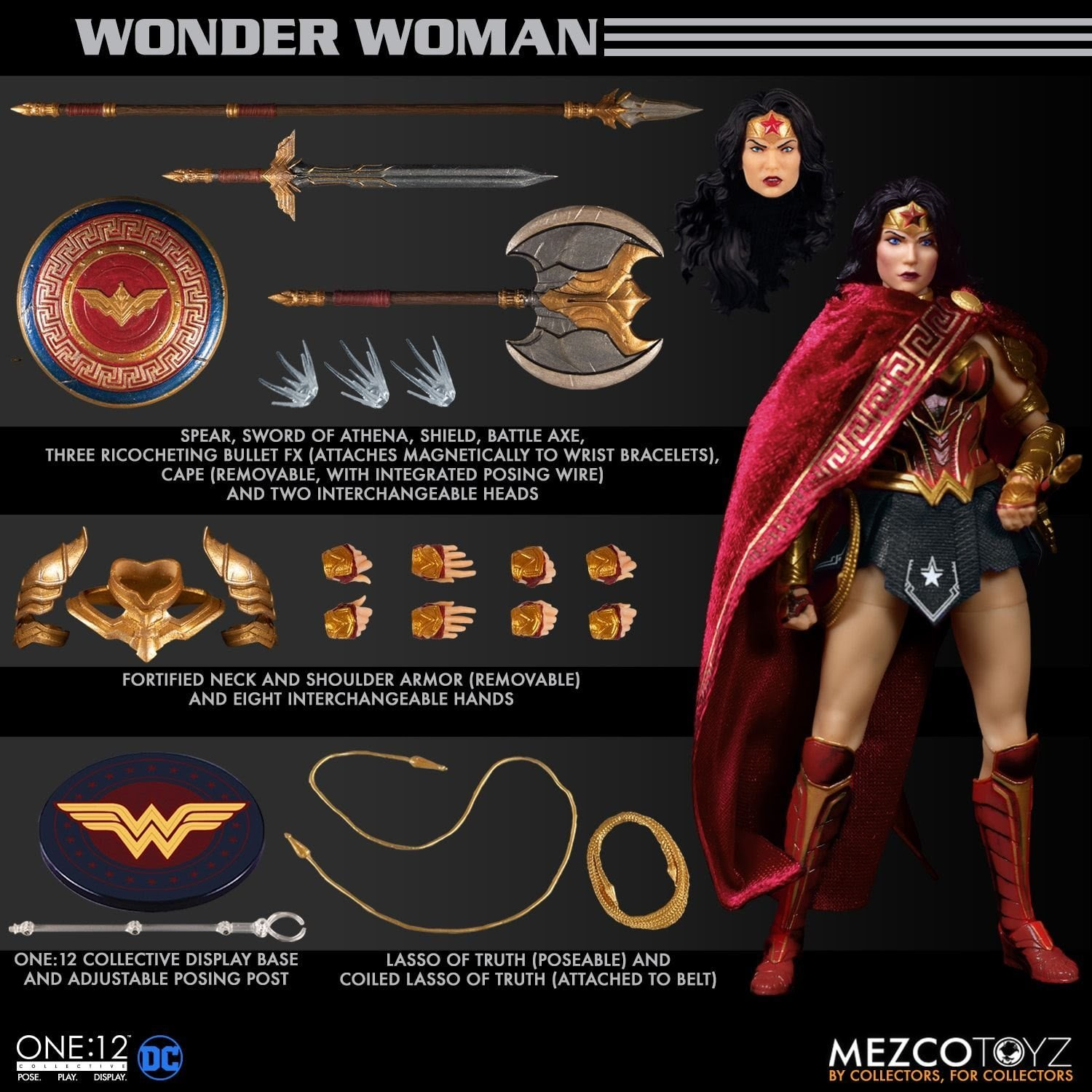 Wonder Woman 1 to 12 Scale Action Figure