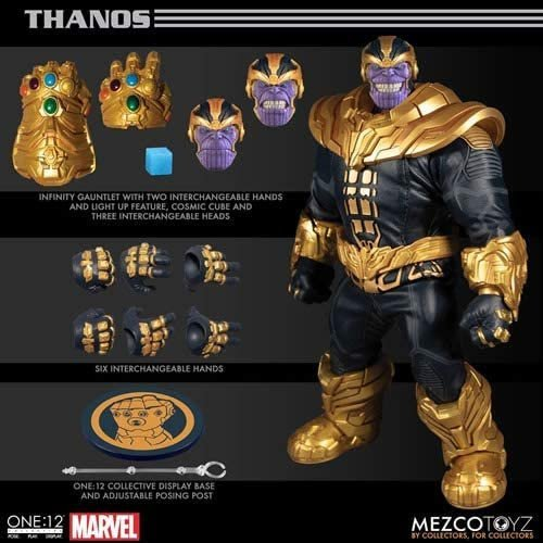 Thanos with Light Up Feature - Collective Action Figure