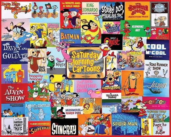 Saturday Morning Cartoons 1000 Piece Puzzle