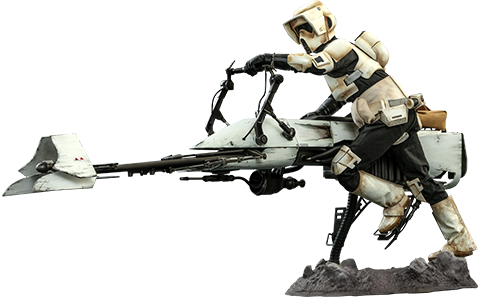 Star Wars Mandalorian Scout Trooper and Speeder Bike 1-6 scal Colletible