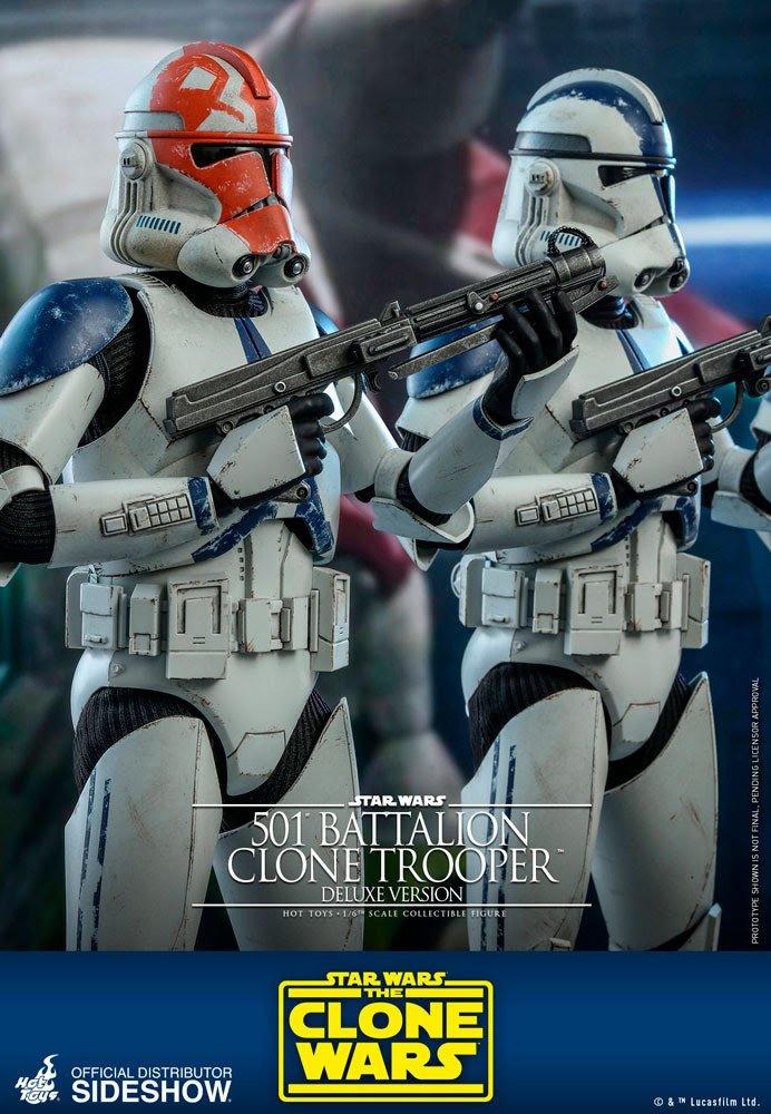 Star Wars 501st Battalion Clone Trooper Deluxe Version 1-6 Scale Figure